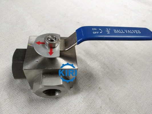 China PN16 - PN160 Pressure 3 Way Ball Valve , Stainless Steel Ball Valve Easy Operation supplier