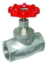 China NPT Internal Thread Cast Steel Globe Valve 200WOG Pressure Ball Structure supplier