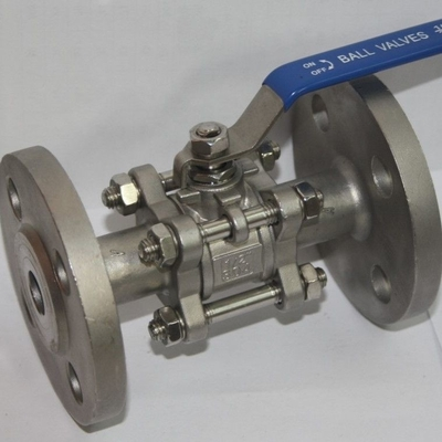 China 3PC SS304/CF8M  Stainless Steel Ball Valve Industrial Flange End AMSE 300LB/flanged RF Floating ball type PN16 PN40 supplier