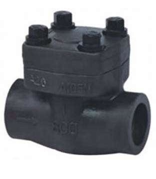Class 150 / 1500 Forged Steel Check Valve Smooth Finish High Temperature Of Media