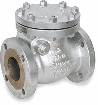 Modular Design Cast Steel Swing Check Valve , WCB Check Valve RF Flange End