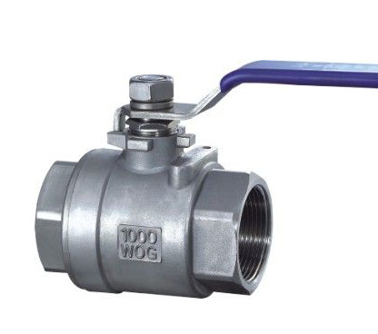 China 2 PC Type Stainless Ball Valve Threaded End BSPT / BSPP / NPT 316 / 304 Lever Operated factory