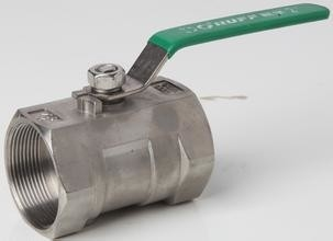 1 Piece Stainless Ball Valve 1000WOG With NPT / BSPT / BSPP / DIN2999 Thread/Female Thread/Reduced Port