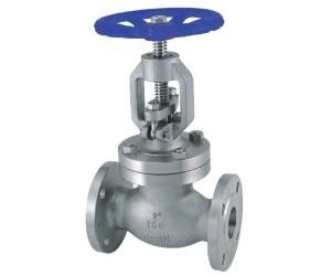 "ASME B16.5 Cast Steel Globe Valve 1/2"" - 8"" Compact Dimension Flanged Design"